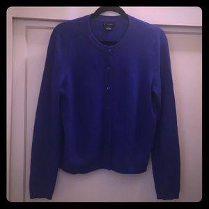 Cobalt Blue Cashmere Cardigan!
